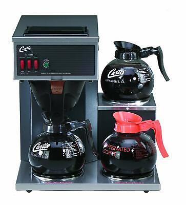 Wilbur Curtis Coffee Maker 64oz Brewer Pourover 3 Station W 2 Lower 1 Upper