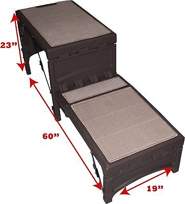 Pet Gear Free Standing Ramp for Cats and Dogs, Supports 200-300 lbs