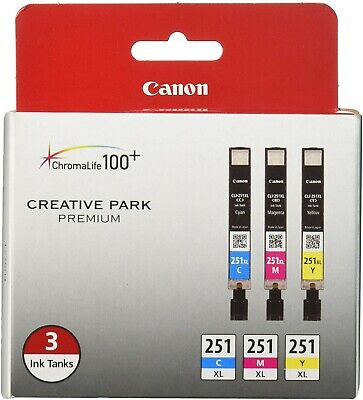 Brand New Canon 251XL Ink Cartridge 3 Pack Cyan/Yellow/Magenta MX722 MX922 MX925