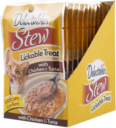 Hartz Lickable Wet Cat Treats Chicken and Tuna 12 Count Variety Pack