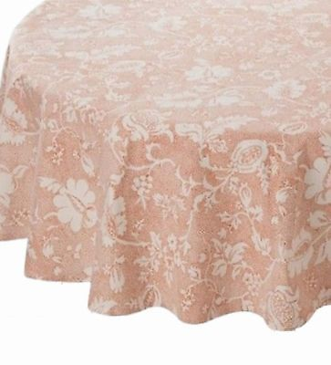 Orange Rust Dotted Floral Tablecloth Fabric Table Cloth 60x104 Ob](Orange Table Cloth)