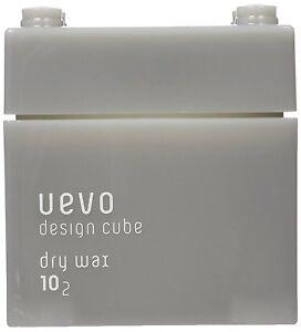 Hair Styling Wax UEVO Design Cube Dry 80g / Japanese Hair salon dedicated / DEMI