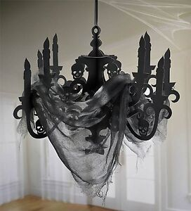 Haunted Mansion Candelabra with Gauze - Halloween Party Decorations.