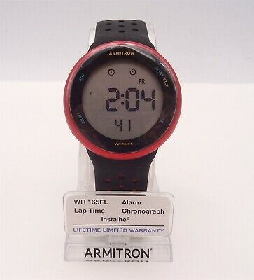 Armitron Unisex Sport Watch Digital Chronograph Red/Black Display 40/8423RRBWM