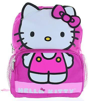 Hello Kitty School Backpack Book bag Little Girls Pink Bow Sanrio Kids 14