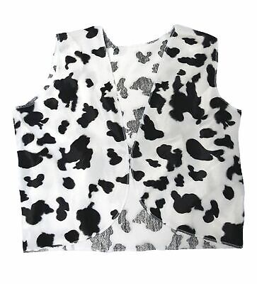 Adult Black & White Cow Print Cowboy Cowgirl Waistcoat Woody Fancy Dress - Woody Cow Vest