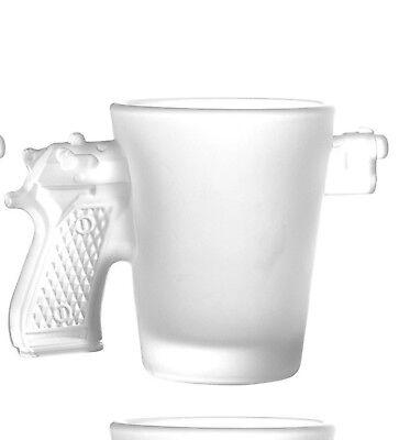 Schnapsgläser Pistole Milchglas Waffe Gun Shots Glas Schnaps im 4er Set (Glas Milch Gläser)