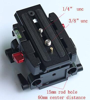 15mm Rail Rod Quick Release QR Baseplate Fr Follow Focus support DSLR Rig camera