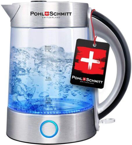 Pohl Schmitt 1.7L Electric Kettle Upgraded Stainless Steel Filter Glass Boiler