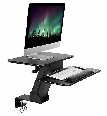 Mount-it Sit Stand Desk Converter Height Adjustable Tabletop With Clamp