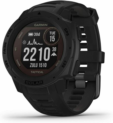 Garmin Instinct Solar Premium GPS Smartwatch Tactical Edition Black