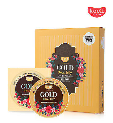 Koelf Gold   Royal Jelly Hydro Gel Eye Patch  60Ea    Mask Pack  5Ea   Usa