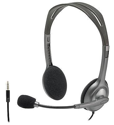 Headphones with Boom Mic for Skype PC/Mac gaming Headset Logitech H111 1X 3.5mm segunda mano  Embacar hacia Mexico