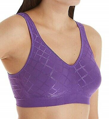 Bra Comfort Flex Fit Bali Wirefree Purple Grape Jelly U-Back S L XL 2XL 3484  Flex Fit Back Bra