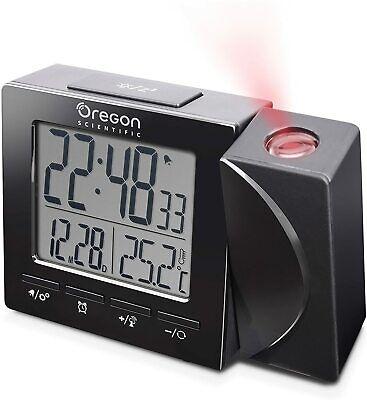 Oregon Scientific RM512 Radio Controlled Projection Alarm Clock - Black