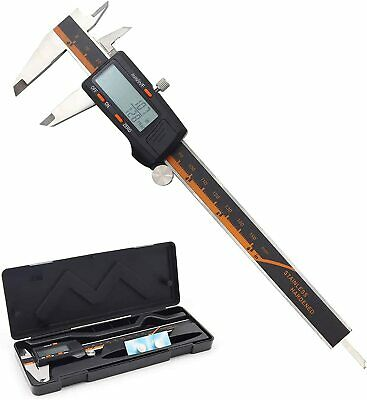 Digital Caliper 6 Inches Measuring Tool Stainless Steel Auto-off Function