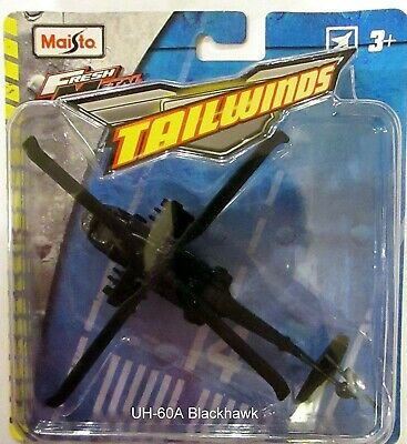 Used, Maisto Fresh Metal Tailwinds Black UH-60A Blackhawk Helicopter Type 1 for sale  Succasunna
