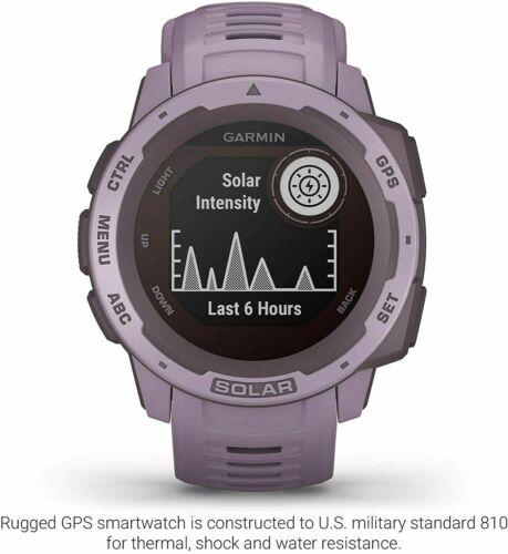 Garmin Instinct Solar Rugged Outdoor Watch with GPS - Orchid Purple