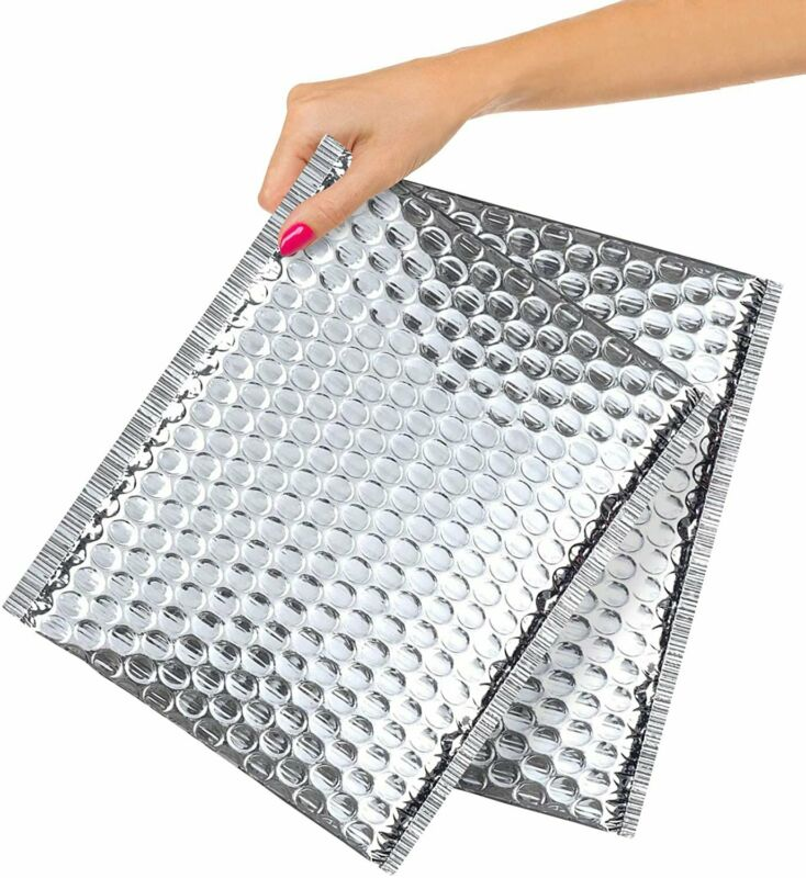 50-Pack Cool Shield Bubble Mailers 8x11 Thermal Padded Envelopes