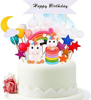 Tortendeko Geburtstag Kuchen kinder Einhorn Kuchen Topper 25 Set Regenbogen