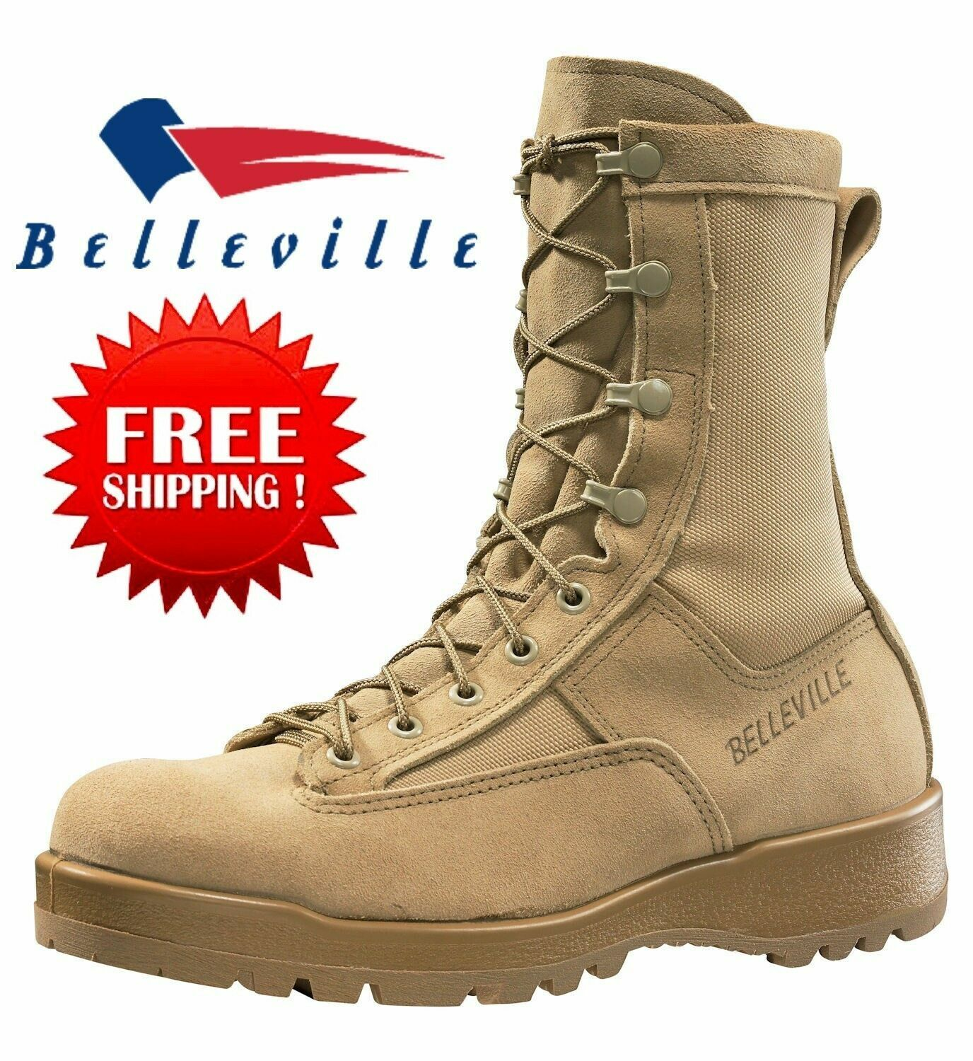 Rocky 789 Military Army Desert Tan Hot Weather Combat Boots