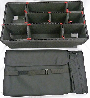 Computer lid org. & TrekPak dividers for the Pelican 1535 air case. Red Handle + for sale  Shipping to South Africa