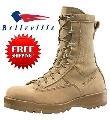 Belleville 790G Men's Waterproof Flight Military Combat Boots TAN-8R to13R. NEW - Military Tan Khaki