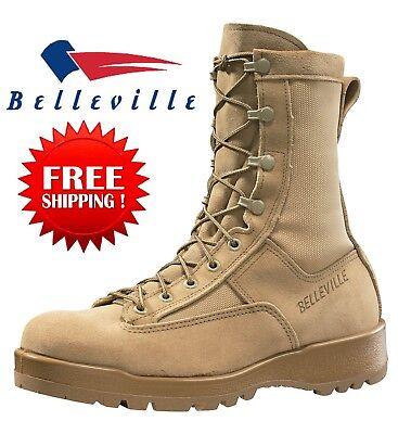 Belleville 790G Men's Waterproof Flight Military Combat Boots TAN-8R to13R. NEW - Khaki Mens Boots