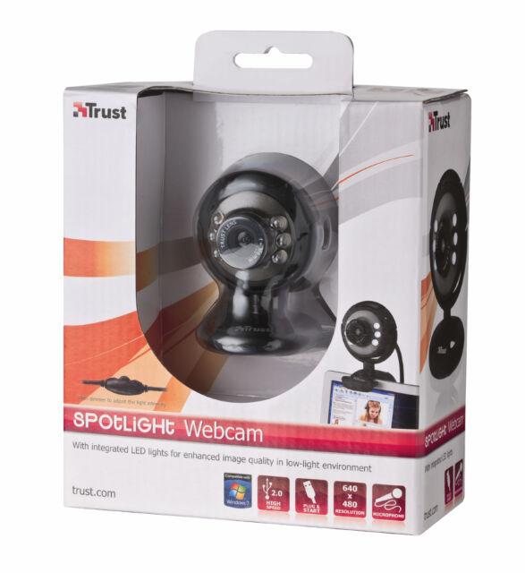TRUST 16429 SPOTLIGHT WEBCAM, INTEGRATED MICROPHONE, LIGHTS + DIMMER, CLIP