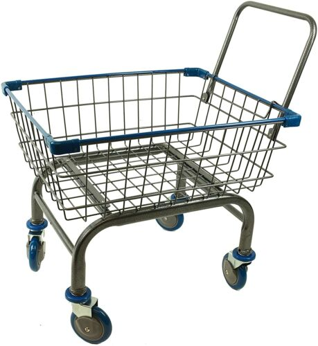 CART BASKET HOUSEHOLD HOME & COMMERCIAL CHARCOAL GREY CART WITH U-HANDLE