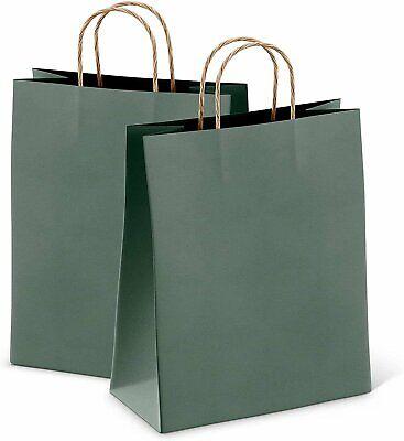 Kraft Teal Paper Shopping Bags 8x4.75x10.5 Retail Paper Bags 25 Pack