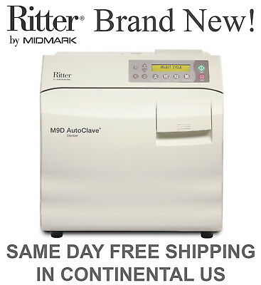 New Ritter Midmark M9d Autoclave Steam Sterilizer - Manual Door M9d-022