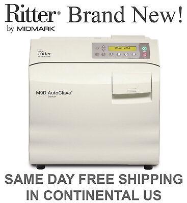 New Ritter Midmark M9d Autoclave Steam Sterilizer - Manual Door M9d-022