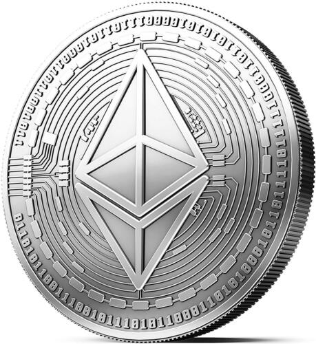 Physical Silver Ethereum Coin Collector Gift Coin Art Collection Gold Copper