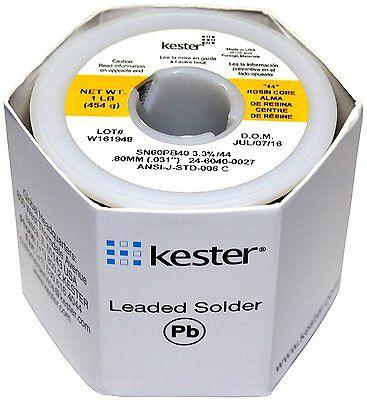 Kester 44 Rosin Core Solder 6040 .031 1 Lb. Spool Wire Roll Electrical Bond