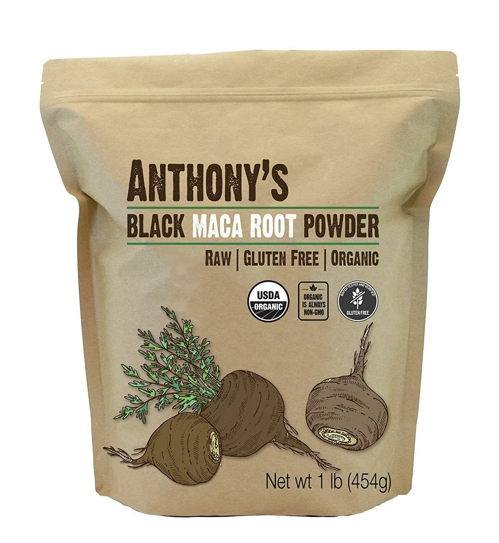 Anthony's Organic Black Maca Powder, 1 lb, Raw, Gluten Free