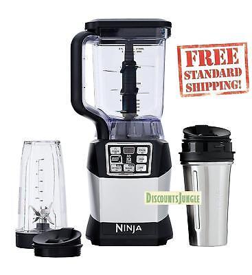 Nutri Ninja Auto-IQ BL490 1200 Watts Prodigal-Performance Blender 72 Ounce w/ 2 cups