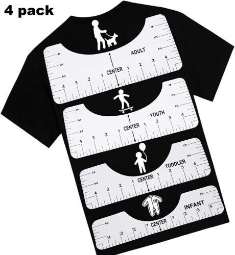 Tshirt Ruler Guide Alignment Tool T-shirt Center Design Heat Press Vinyl Measure