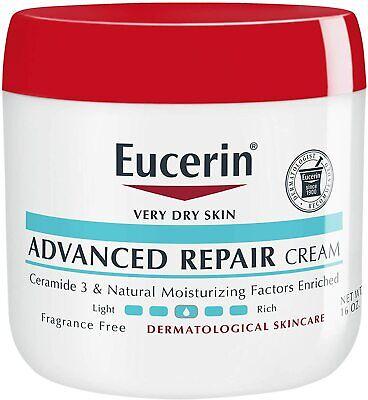 Eucerin Advanced Repair Cream Very Dry Skin 16 oz Fragrance Free