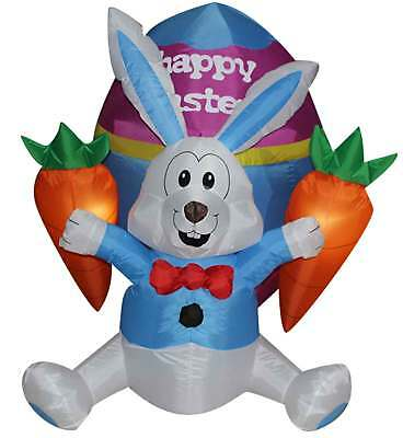 Easter Inflatable Bunny Decoration, Outdoor Holiday Easter Rabbit and Carrots