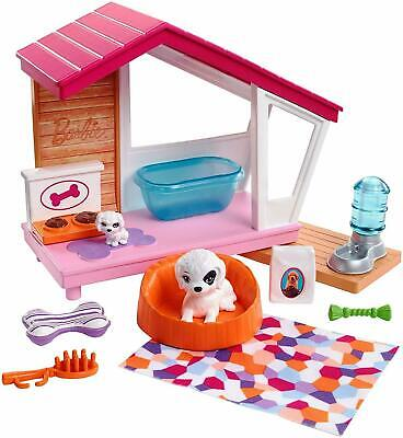 Barbie Puppies and Dog House Indoor Furniture Playset, Puppy Playhouse New