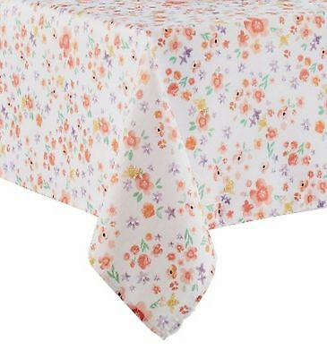 Celebrate Together Coral & Purple Floral Tablecloth Fabric Table Cloth 60X102 Ob](Coral Table Cloth)