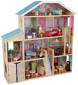 Doll House Mansion Deluxe Play Barbie Furniture Big Girls
