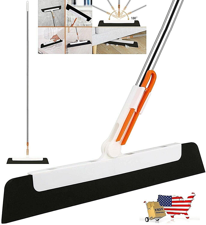 Floor Squeegee Broom, 58″ inch Long Handle Foam Glass Tile Squeegee 180 Swivel Cleaning Tools
