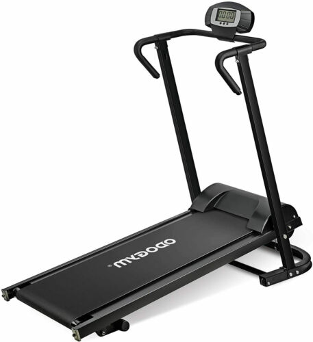 New Foldable Manual Non-Electric Walking Treadmill Running Machine with Armrests