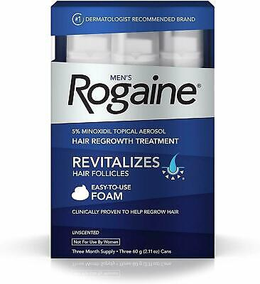 Rogaine Foam Hair Loss & Regrowth Treatment 5% Minoxidil - 1,2,3,6 Month Supply Mens Hair Regrowth Treatment