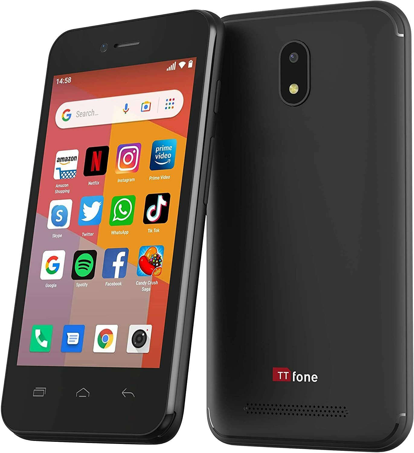 Android Phone - TTfone TT20 Smart 3G Mobile Phone Android GO - 8GB - Dual Sim 4Inch Touch Screen