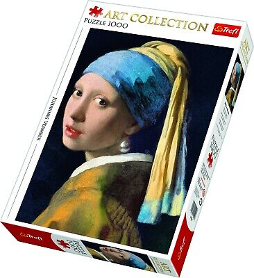 Trefl 1000 Piece Art Collection Adult Large Girl Pearl Earring Jigsaw Puzzle NEW