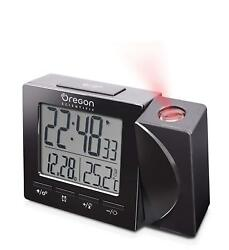 Oregon Scientific Travel Projection Atomic Clock with Temperature Calendar Alarm