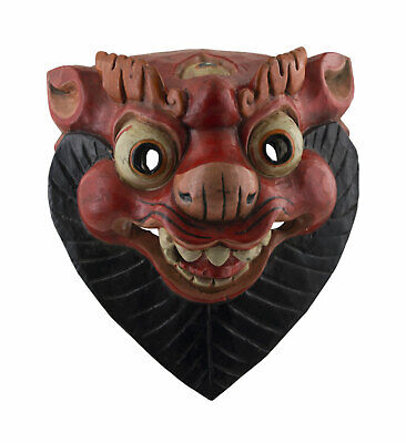 Mask Ritual Leopard Of Frozen Nepalese Tibetan Protection Shaman 26615